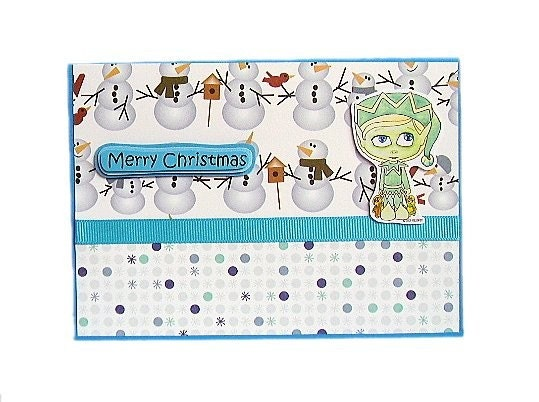 Christmas In July - Kreepy Kids Jack Frost Handmade Card by uniquegrabs on Etsy