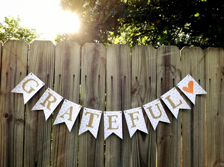 Printable fall bunting banner