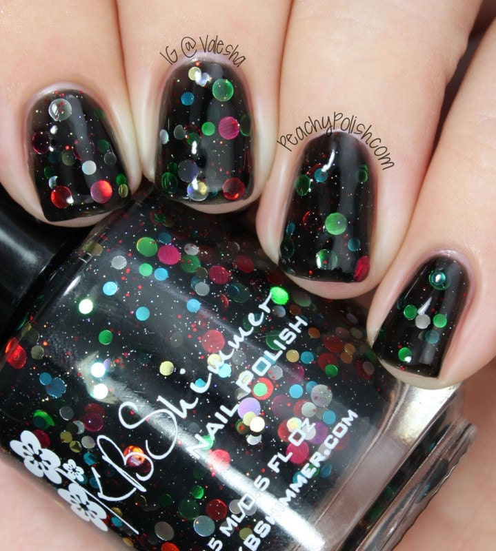 Christmas Light Nails: Strung Out Christmas Light Inspired Glitter Nail By KBShimmer