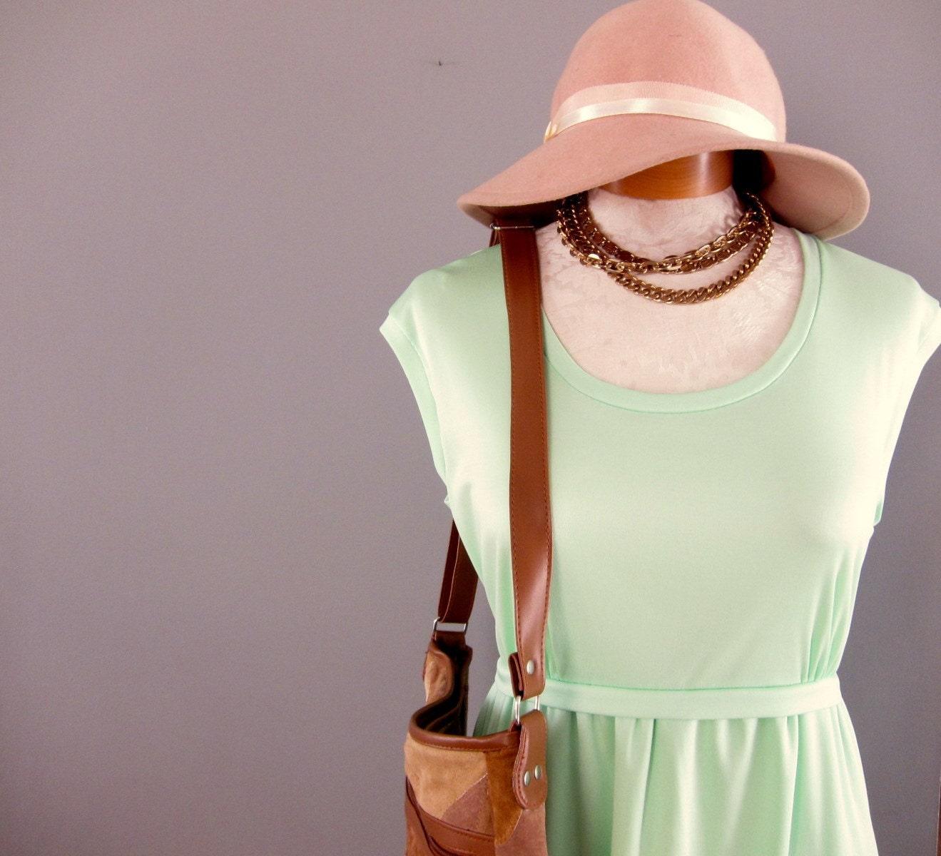 This Vintage Mint Julep Maxi Dress Summer Ensemble