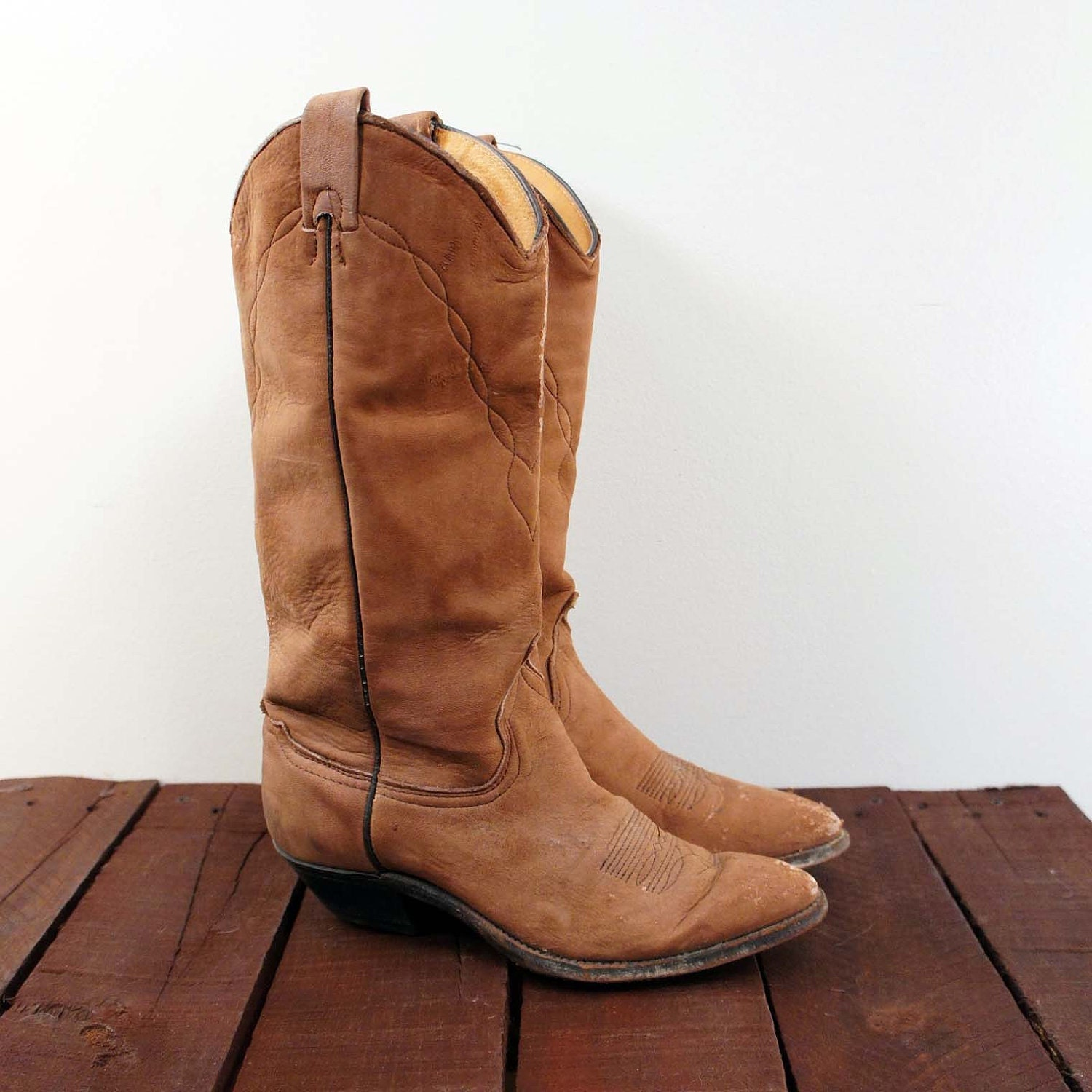 s cowboy boots in distressed brown for by