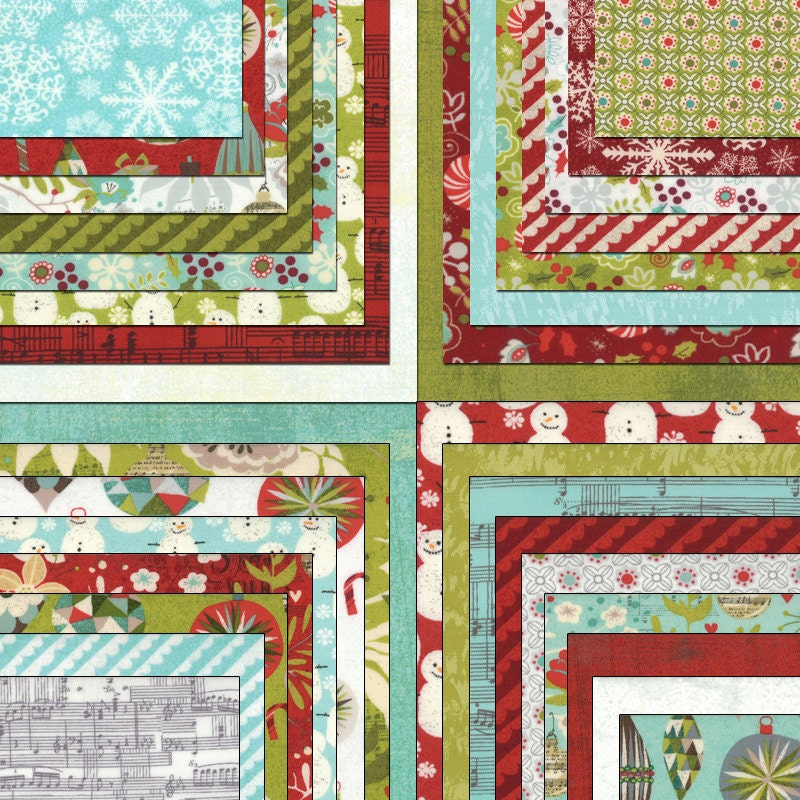 "Aspen Frost Layer Cake Moda Fabrics Quilt Fabric 42 - 10"" Squares Kit ..."