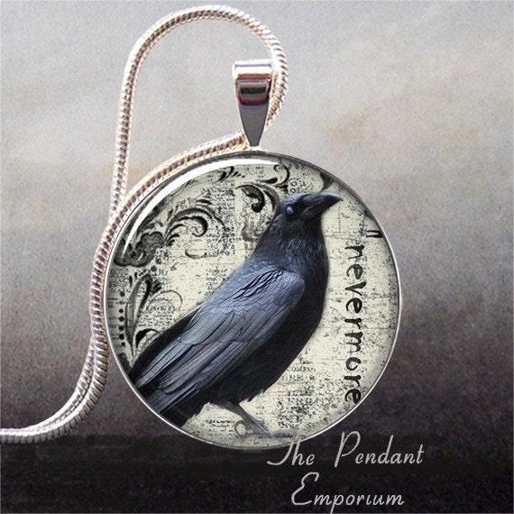 Poe's Raven art pendant (195)