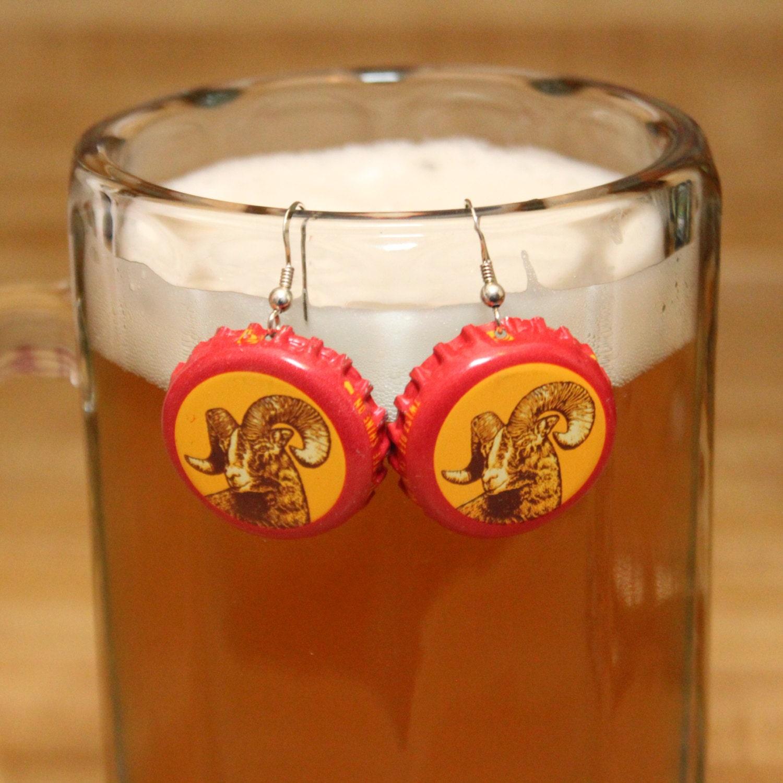 Shiner Bock Cap Earrings