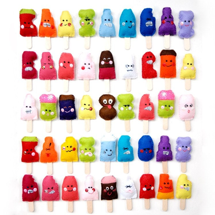 1 badgepin ice lolly - PICK N MIX design YOUR OWN plush ice lollies