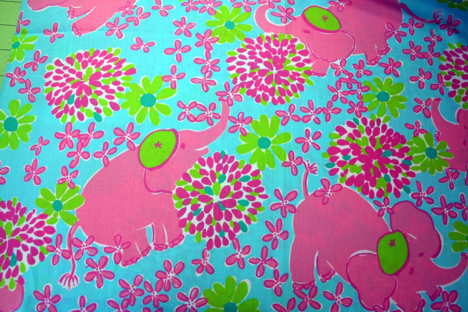 lilly pulitzer elefrance fabric 18inch by 18 inch by