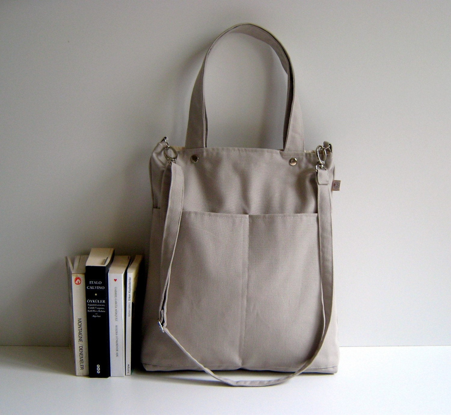 Simply Tote Bag in Khaki - unisex -