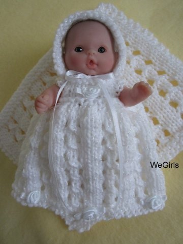 Berenguer Baby Doll Knitting Pattern Lace Christening by ...