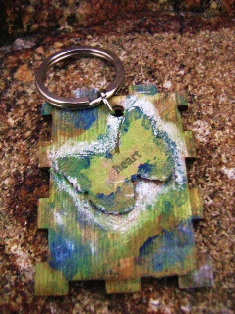 Butterfly Handmade Wood Keychain- Handpainted-Art-Boho