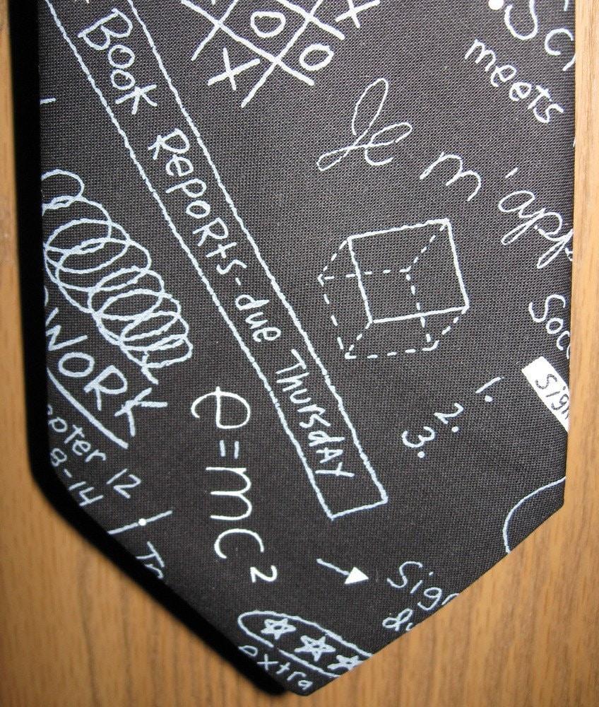 School Teacher Chalkboard Necktie with Free Gift Box