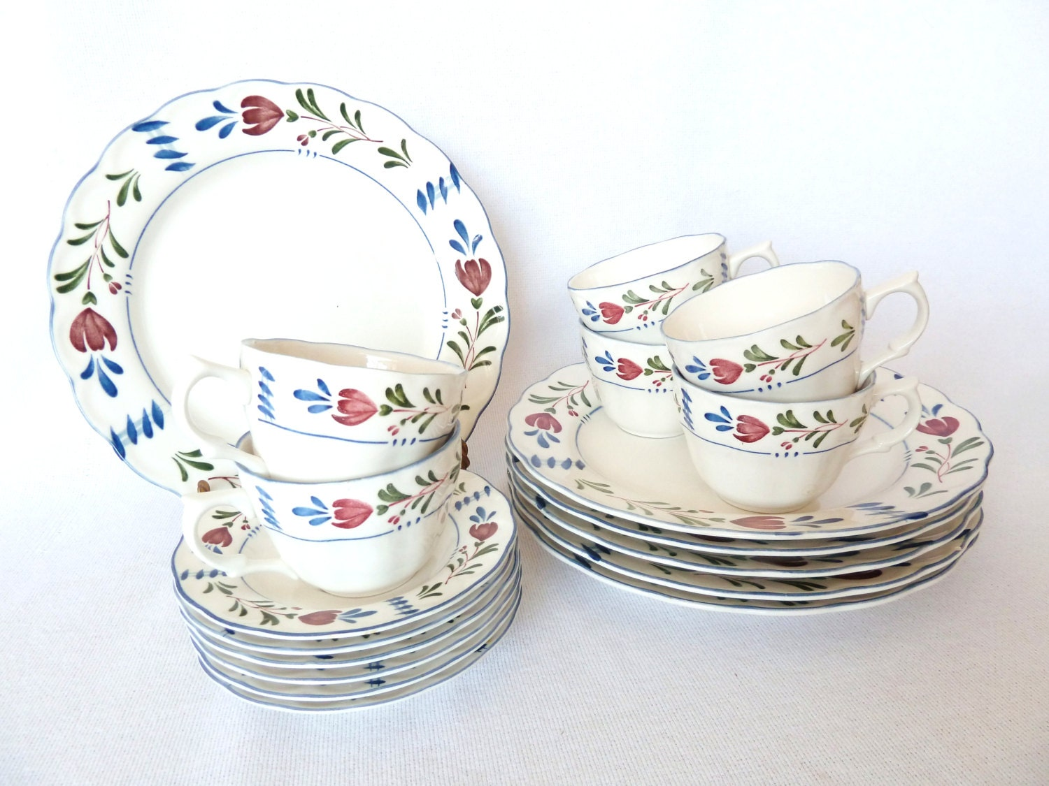 French Country Nikko Provincial Designs Avondale, Dinnerware Set of 6