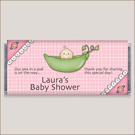 sweet pea baby shower candy bar wrappers by thewrapperpress