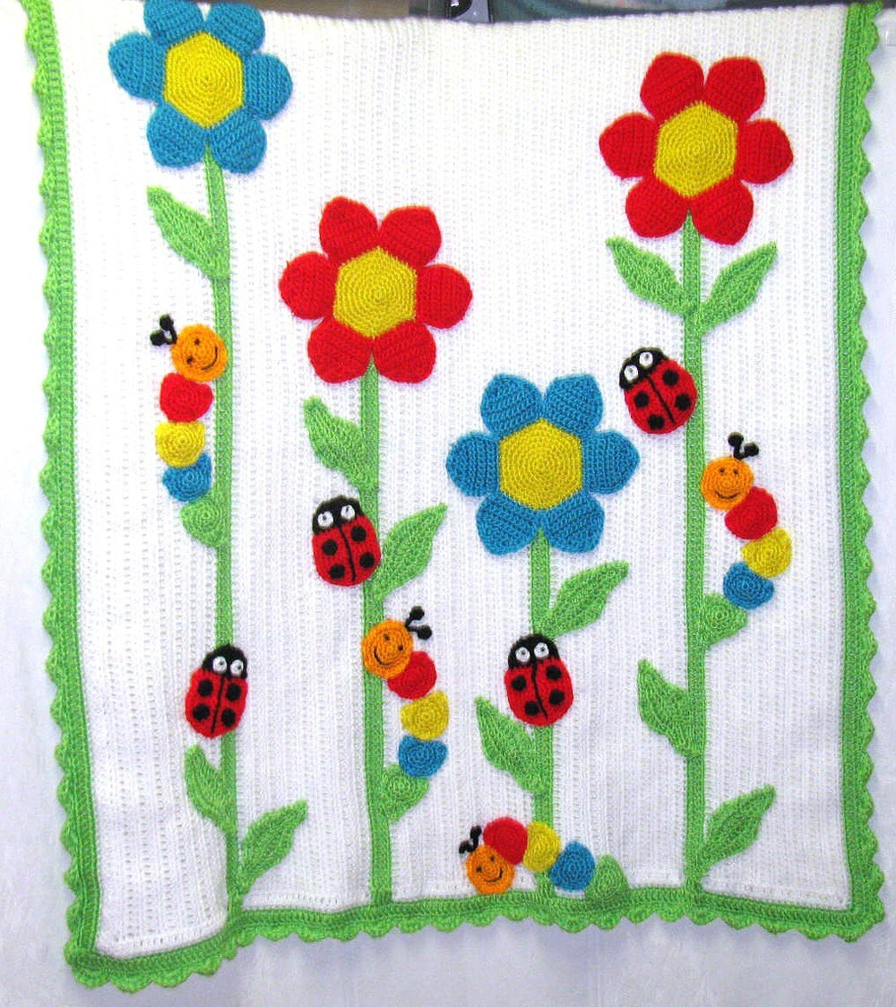 Sweet Spring Garden Baby Blanket