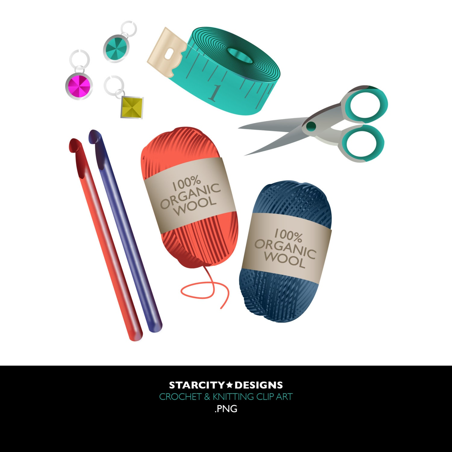 Knit And Crochet Clipart : The gallery for gt crocheting and knitting clipart