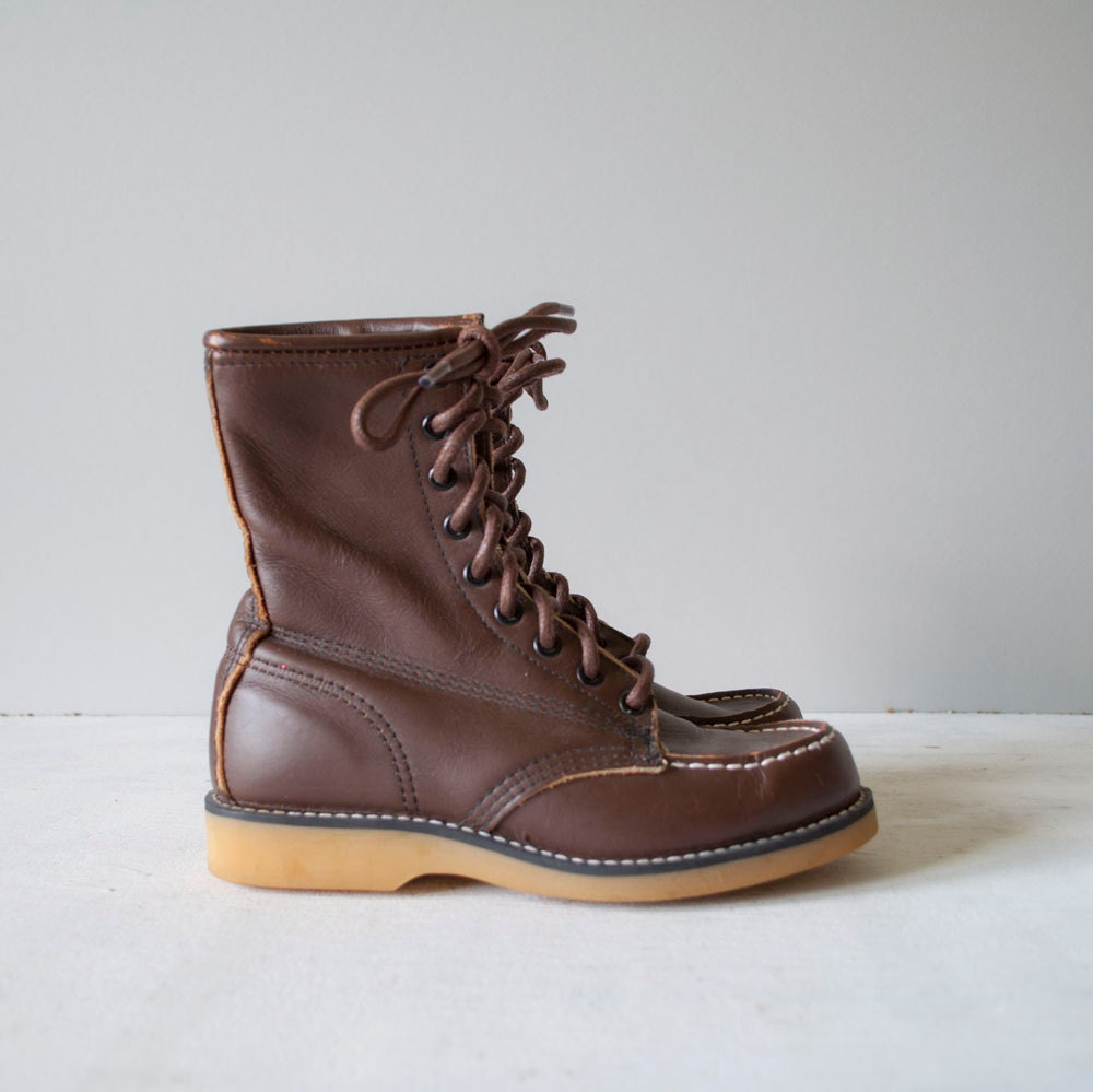 Vintage WALNUT Leather Boots by MariesVintage on Etsy