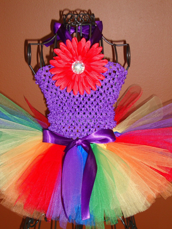 RAINBOW BRITE tutu set.....3piece set.....Perfect for the birthday girl, photos or dance