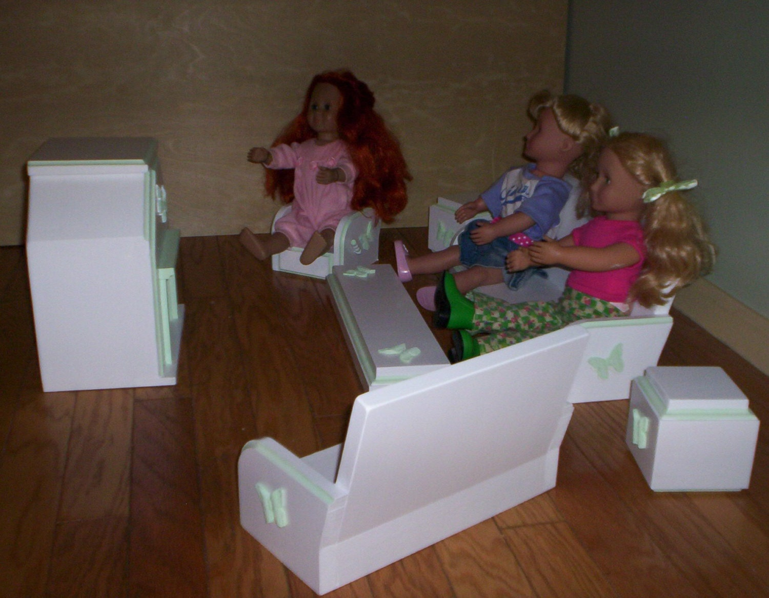 To living room set doll furniture handcrafted for american girl