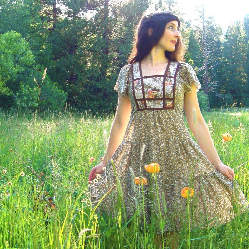 Vintage MY PRAIRIE DOLL Boho Summer Dress (S)