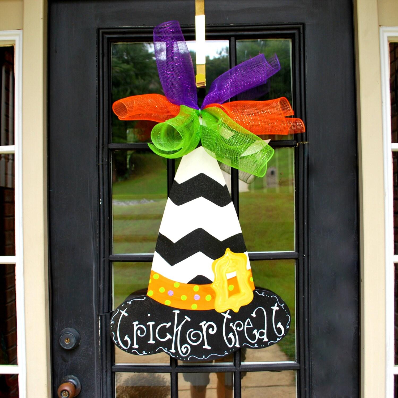 Witch Hat Door Hanger Halloween Door Hanger by LooLeighsCharm ~ 230255_Halloween Door Hanging