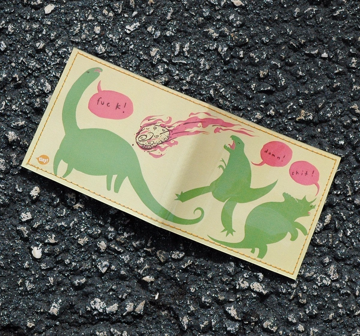 Dinoclasm Wallet - Mikeatron for Tinymeat