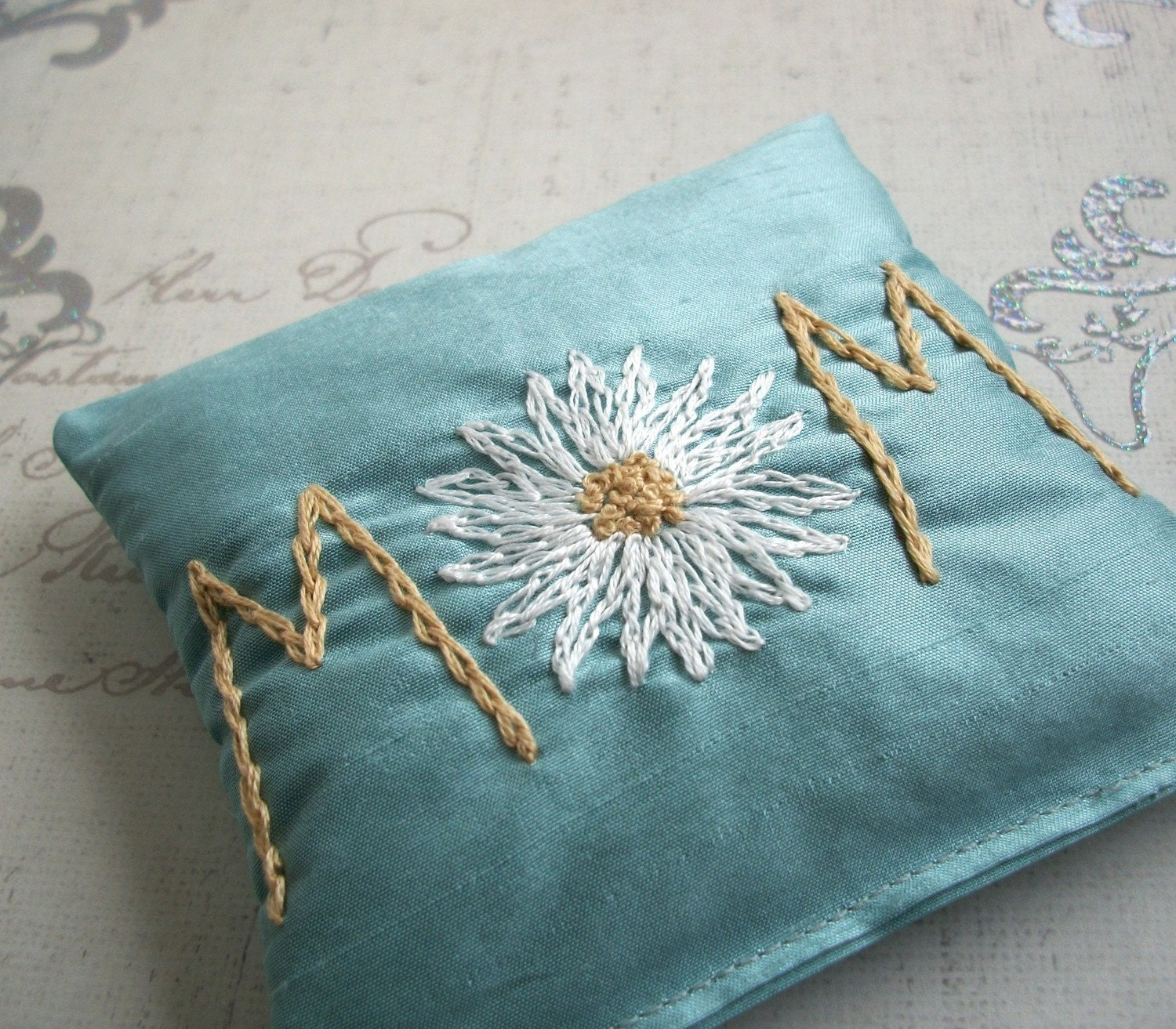 Dolce Dreams Hand Embroidered Dupioni Silk Lavender Sachets