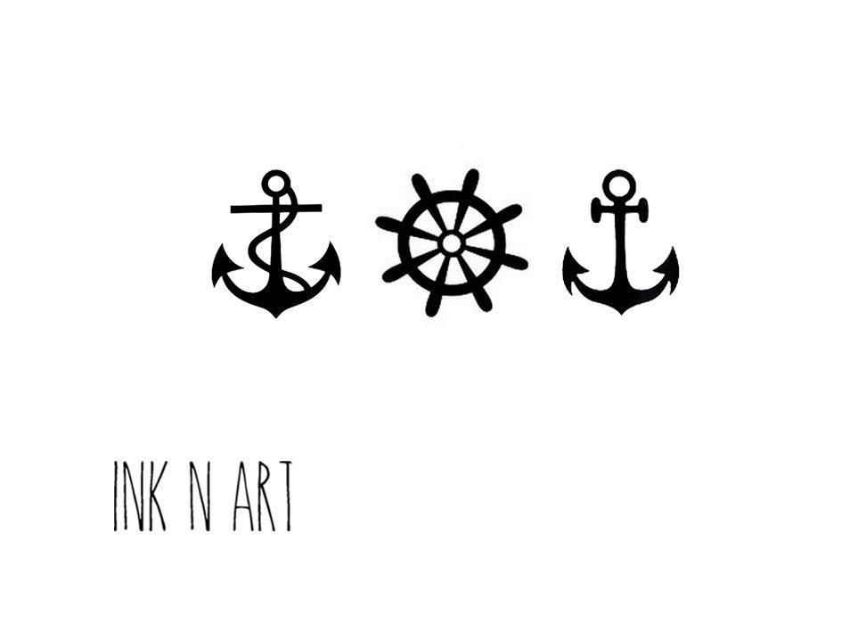 Татуировка якорь минимализм