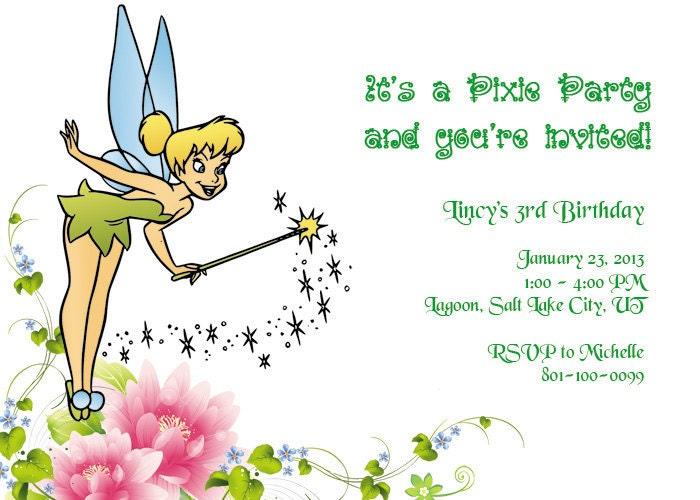 Free Tinkerbell Invitations is amazing invitation example
