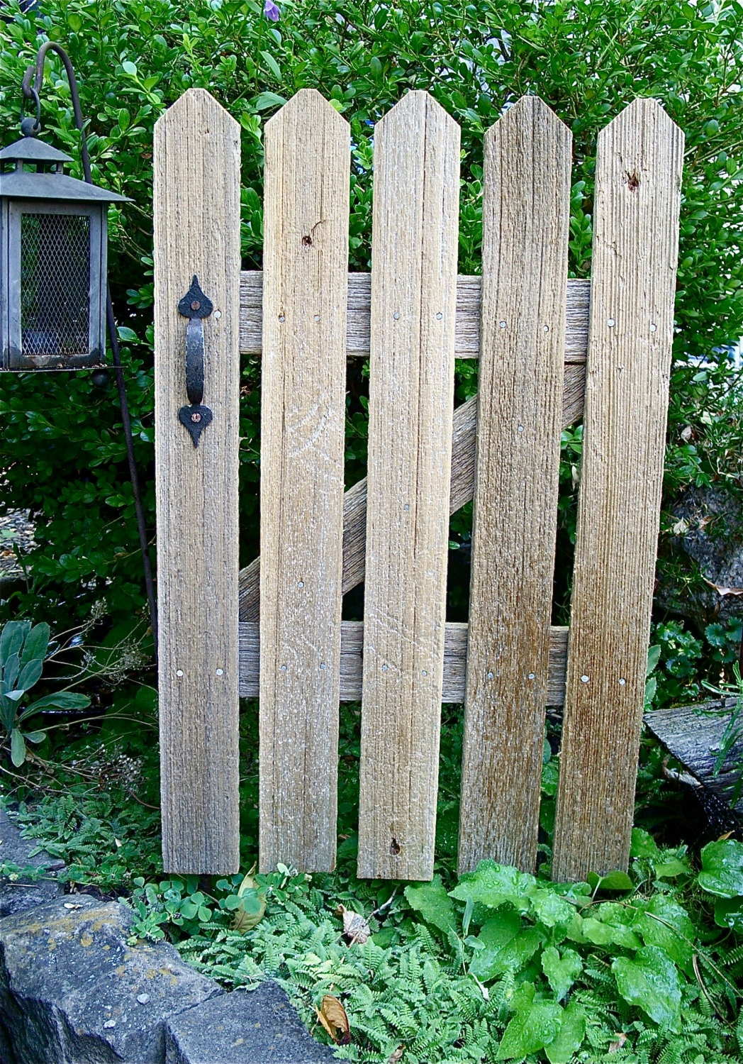 Rustic Cedar Picket Fence Gate Accent Panel By Misckdesigns