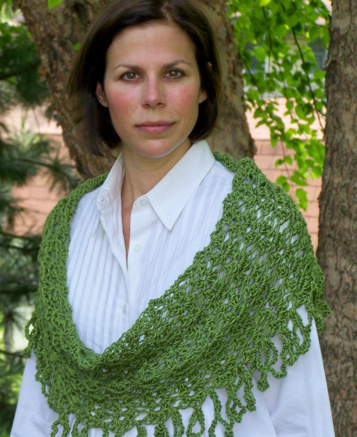 Forest Green Merino Wool Four in One Shawl