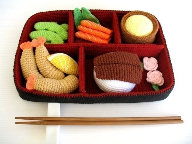 Crochet Pattern - BENTO - Toys / Playfood - PDF