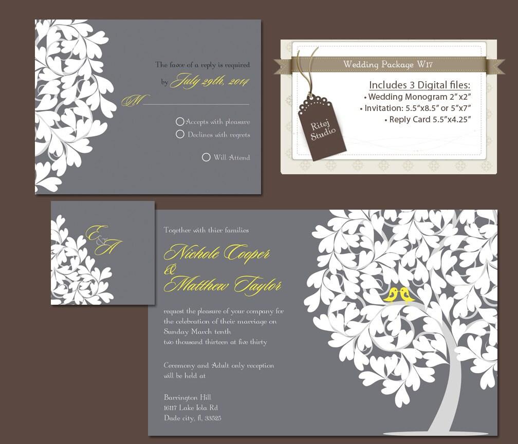 Items similar to digital wedding invitation package diy for Digital wedding invitations