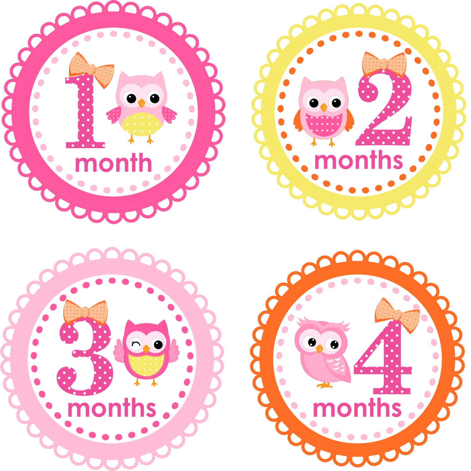 ... Stickers Monthly Baby Stickers Baby Shower Gift Photo Prop Baby