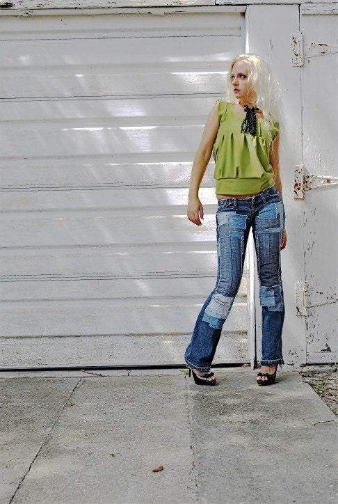 وصله جین شلوار جین شلوار جین سفارشی ساخته شده به منظور تمام اندازه ها