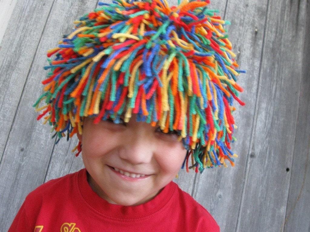 Как сделать клоунский парик своими руками