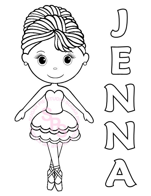 ballerina dance birthday party favor childrens kids coloring - Ballerina Coloring Pages Kids