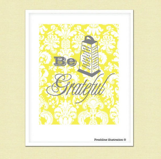Be Grateful Kitchen Art: Unavailable Listing On Etsy