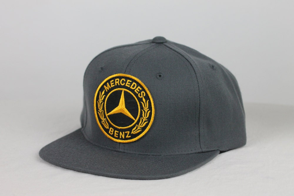 Grey blank with vintage mercedes benz patch for Mercedes benz snapback
