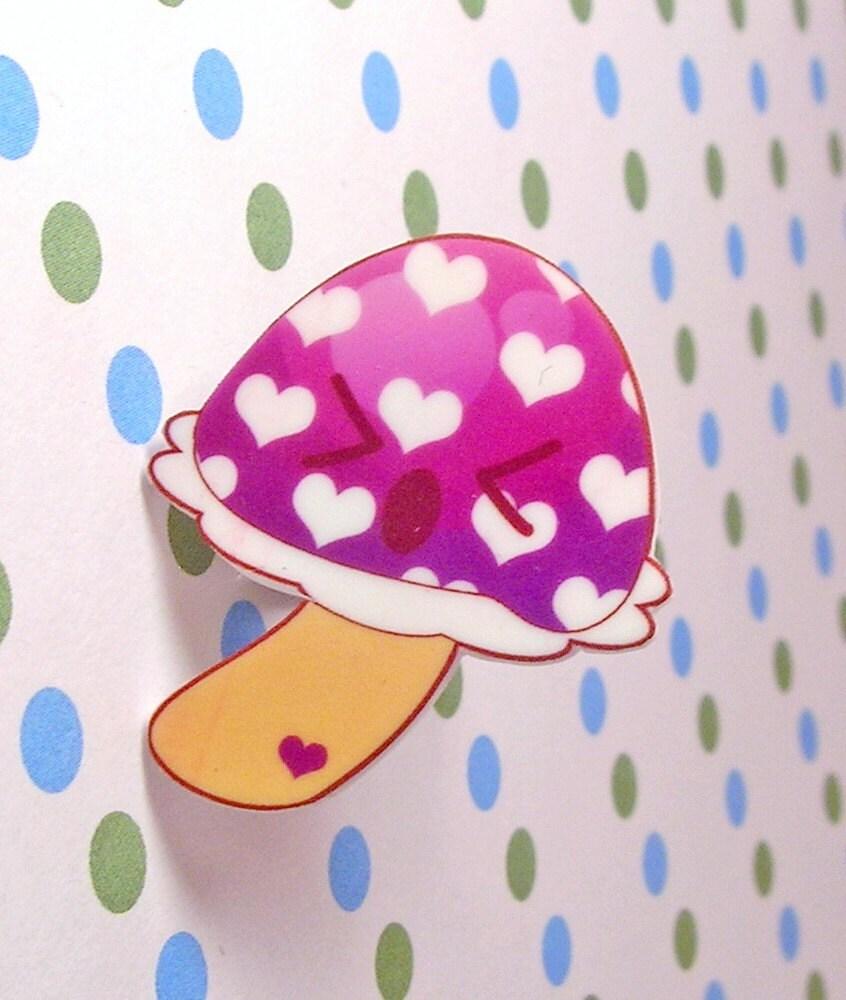 Purple Mushroom Ring