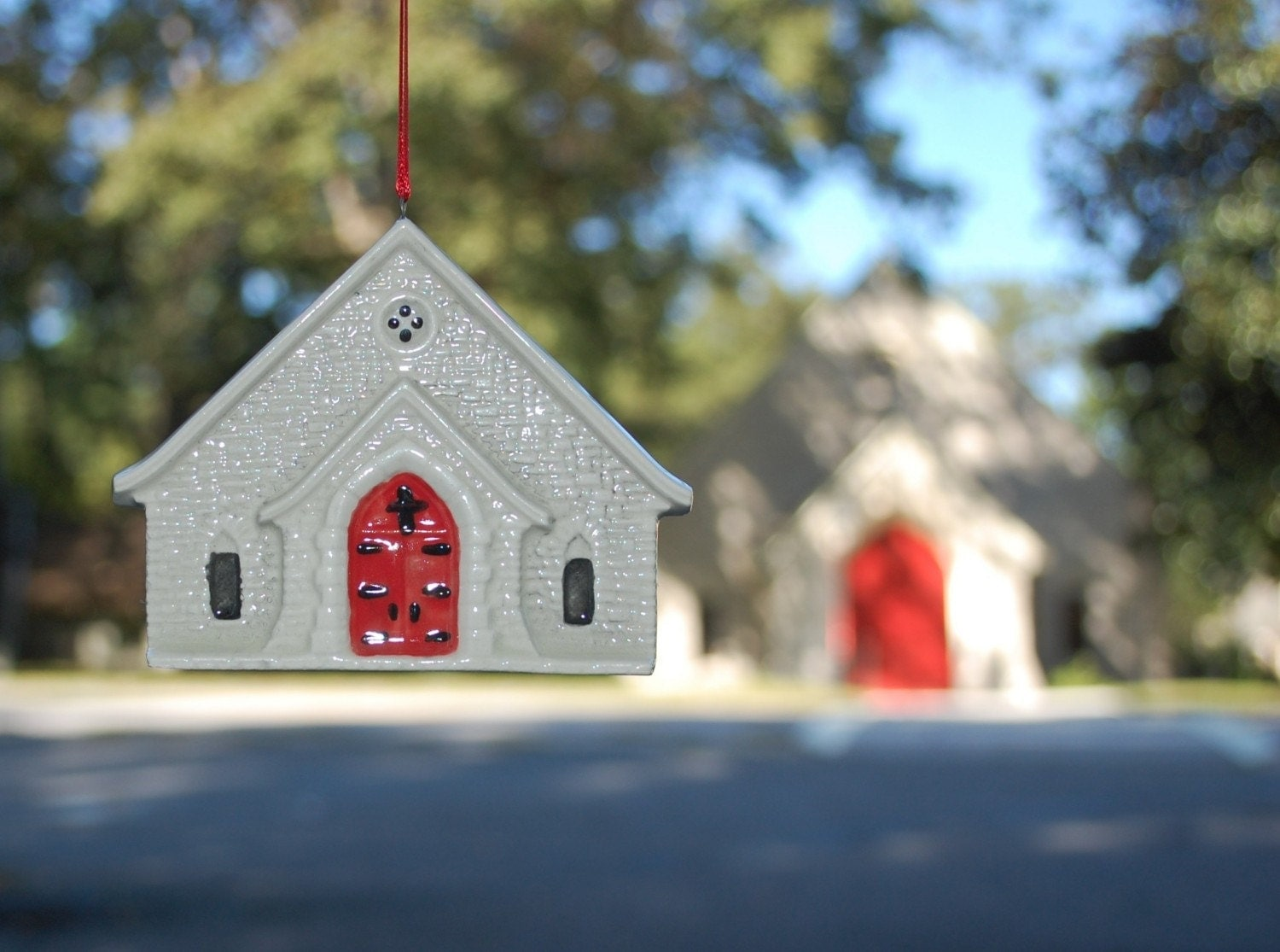 Ornament of the Log Cabin Community Church, Vinings, Georgia
