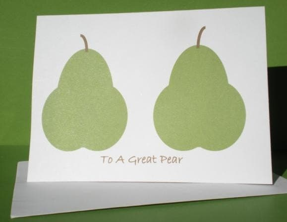 To The Perfect Pear, Single Card, Hello Cupcake