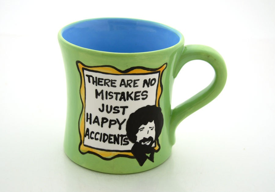 Large Bob Ross Painting Quote Mug Oversized