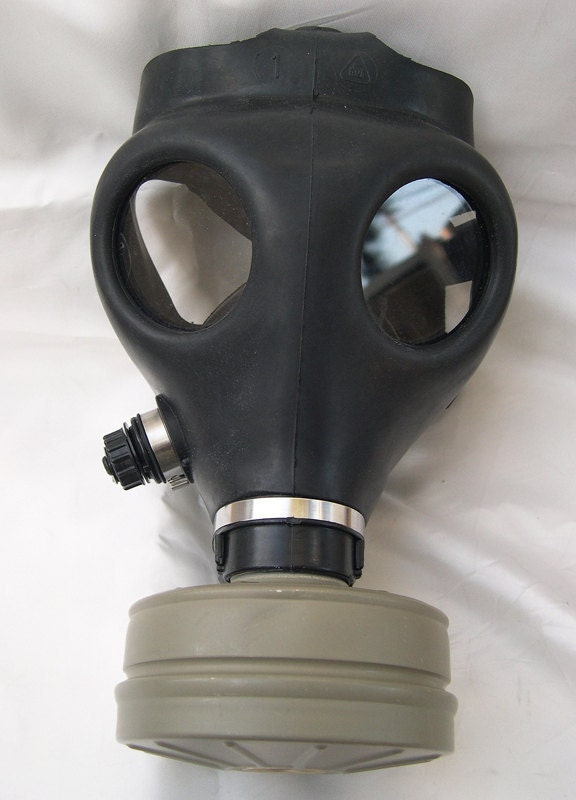 Fully Functional Apocalyptic, Futuristic Full Face Survival Gas Mask with Filter - A BURNING MAN Must Have