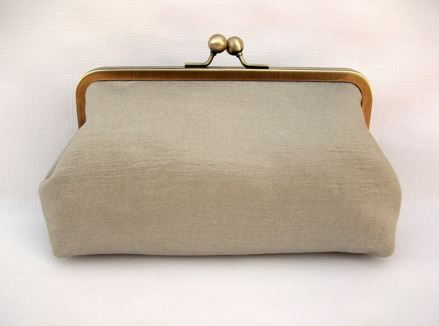 Bronze Gold and Pink Clutch