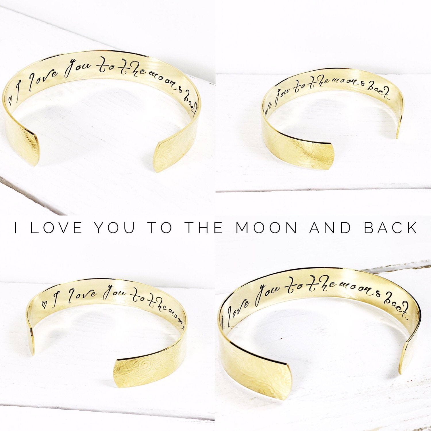 Womens gift  Personalized jewelry  I love you to the moon and back bracelet  Personalized Bracelet  Gift ideas for her Mom Gifts (C110)