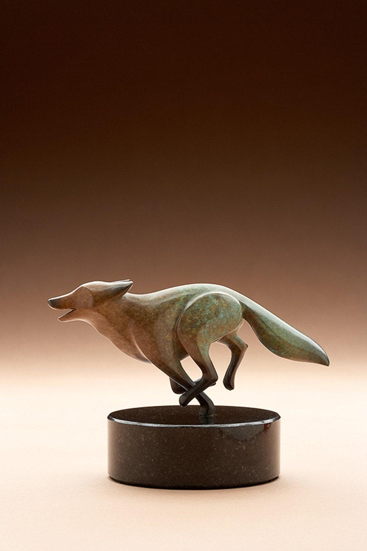 bronze fox, rust / turquois patina limited edition - Michaeltatom