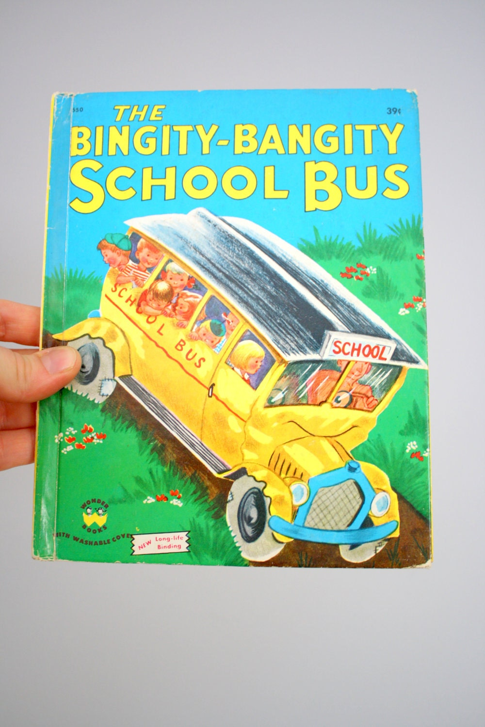 1950 The Bingity Bangity School Bus Wonder Books by Fleur Conkling - babyshapes
