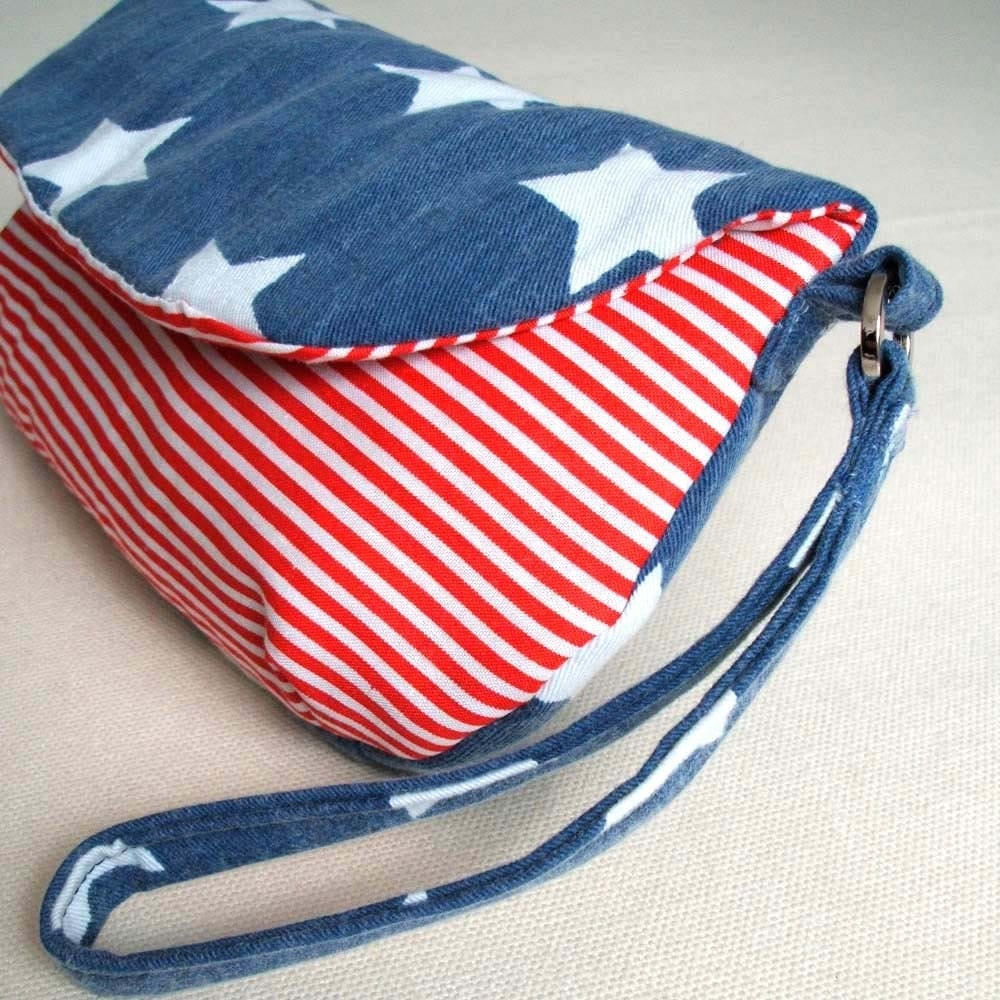 Stars and Stripes clutch purse
