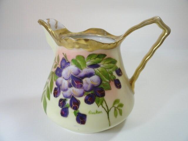 Vintage Prussia Beyer & Bock Hand Painted Creamer