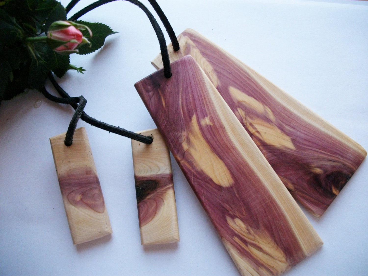Wood Bookmarks Michigan Red Cedar Tree Branch By