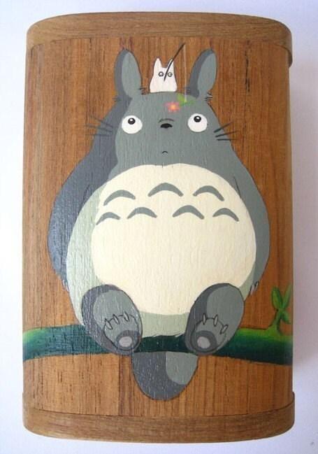 My Neighbor Totoro Hand Paint wood Box Studio Ghibli 11